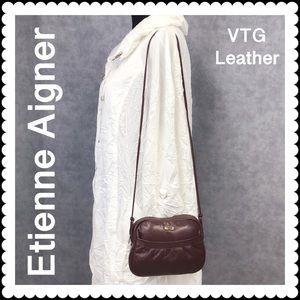 👜 VTG Etienne Aigner Leather Crossbody Shoulder
